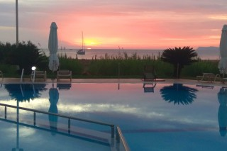 coralli hotel sunset at pool